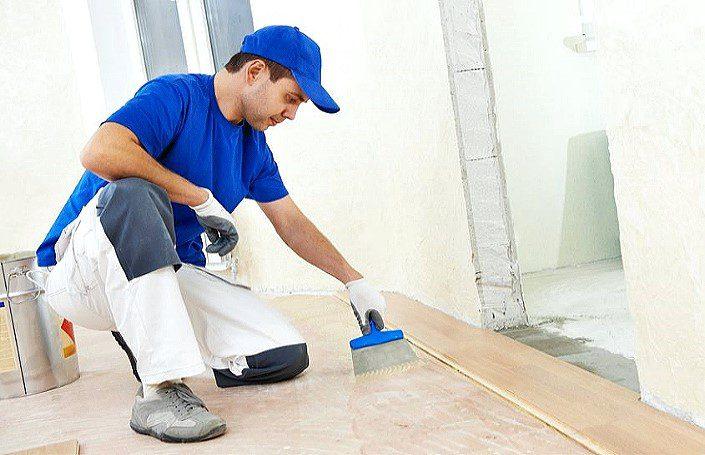 подготовка к укладке ламинированного покрытия