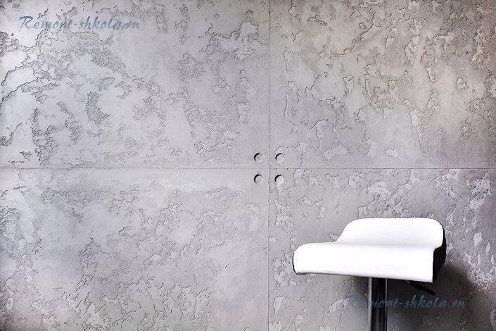 Декоративная штукатурка имитация бетона