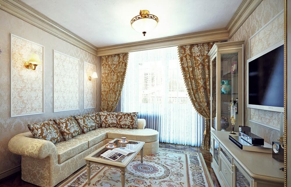 гостиная в классическом стиле современный дизайн интерьера