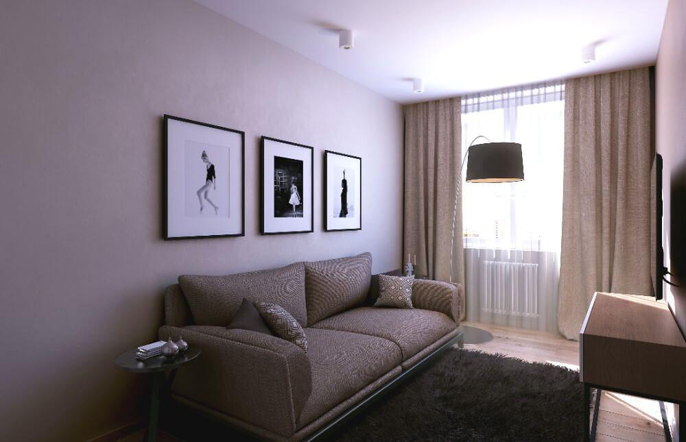 интерьер гостиной хрущевки дизайн