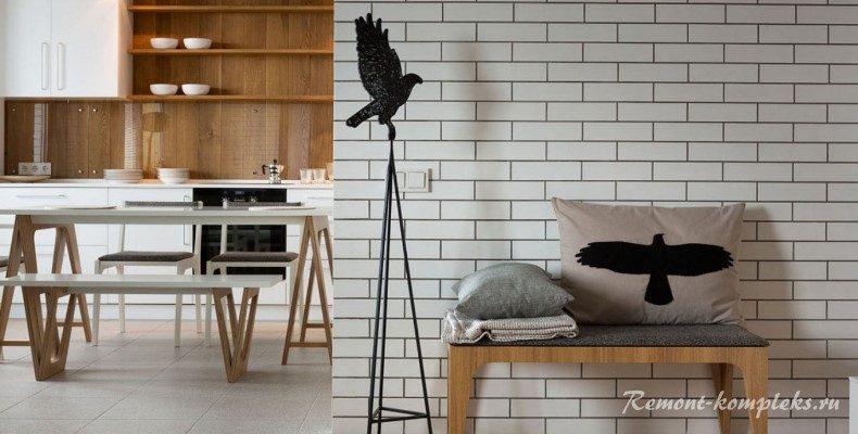 Как сделать настоящую кирпичную стену на кухне